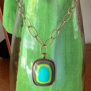 Lucky Brand Enamel Multicolored Necklace